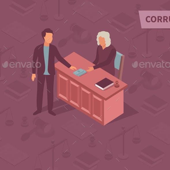 Corruption Isometric Design Concept