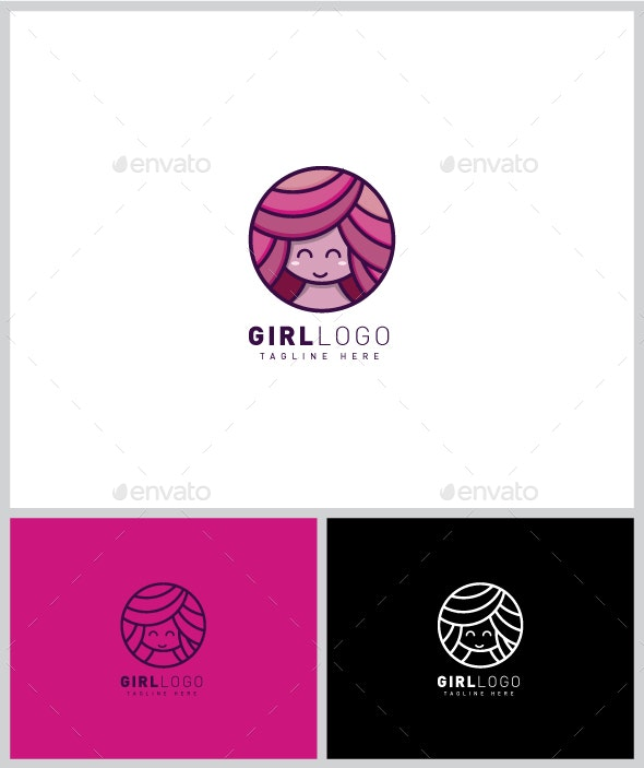 Girl Logo - Humans Logo Templates