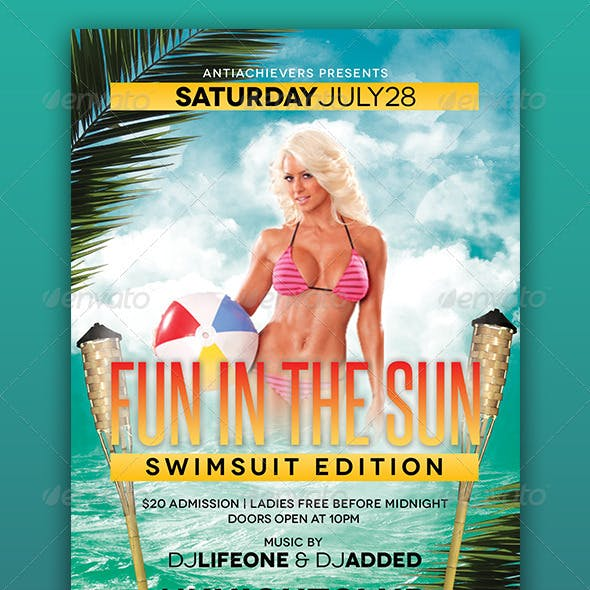 Fun In The Sun Party Flyer