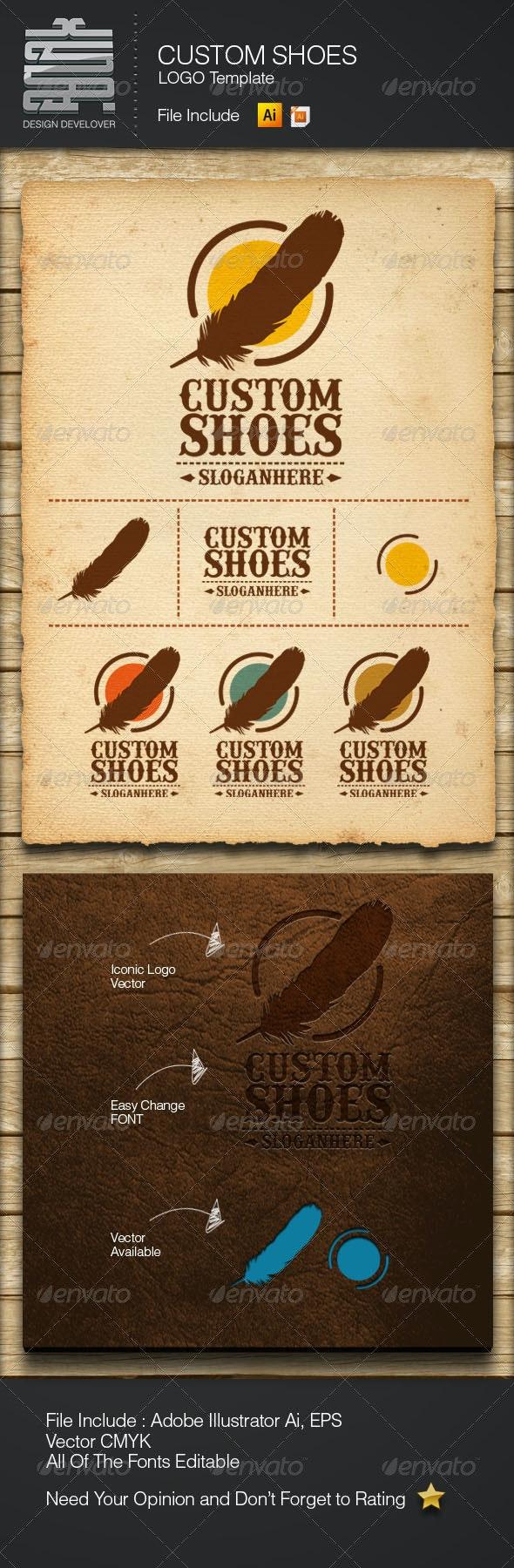 Custom Shoes - Symbols Logo Templates