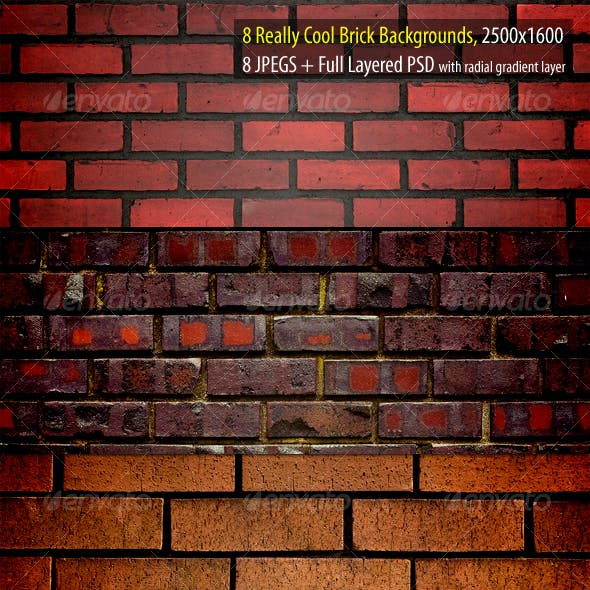 Really Cool Brick Backgrounds Pack