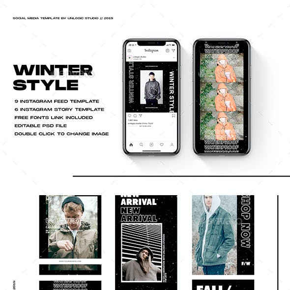 Winter Style Instagram Social Media Pack