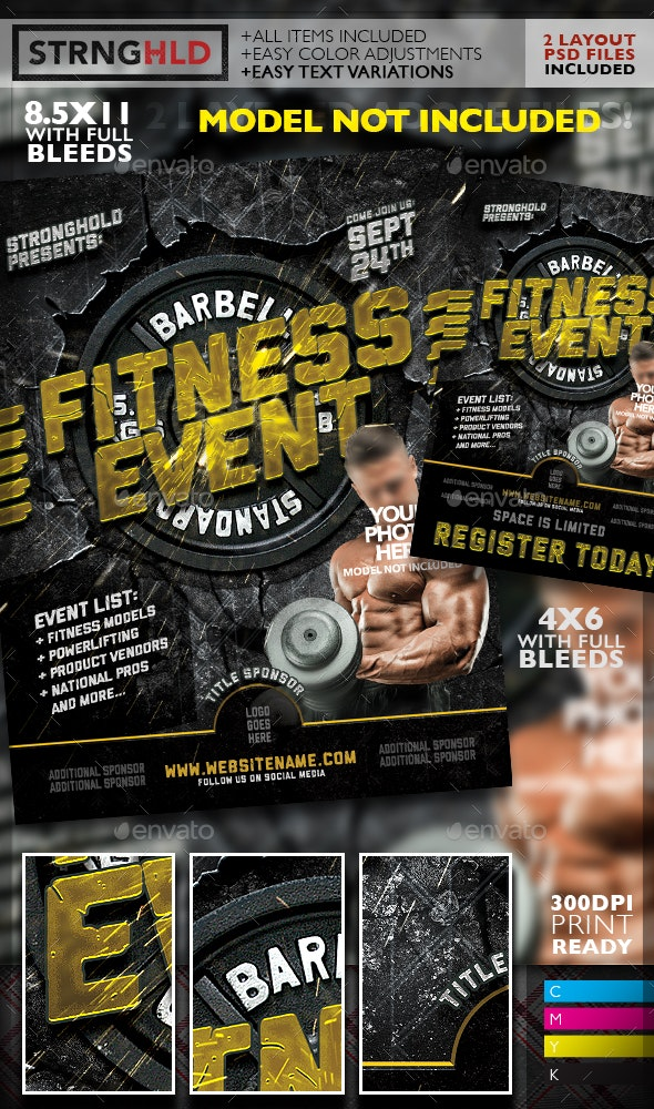 Fitness Event Flyer Template - Sports Events