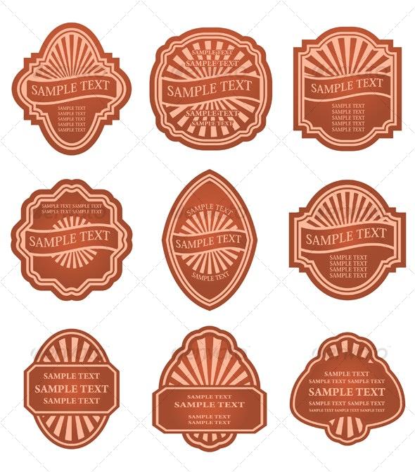 Set of vintage labels - Decorative Vectors
