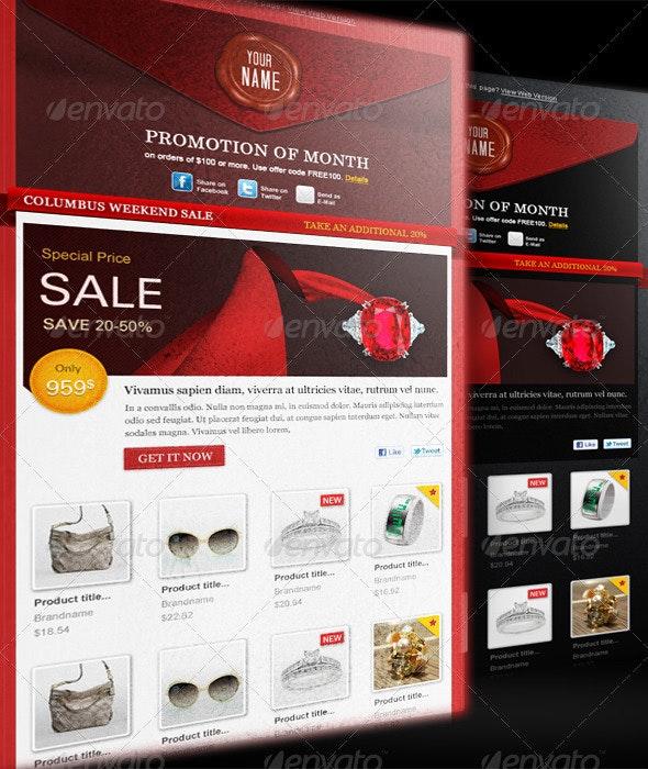 E-Commerce Newsletter - E-newsletters Web Elements