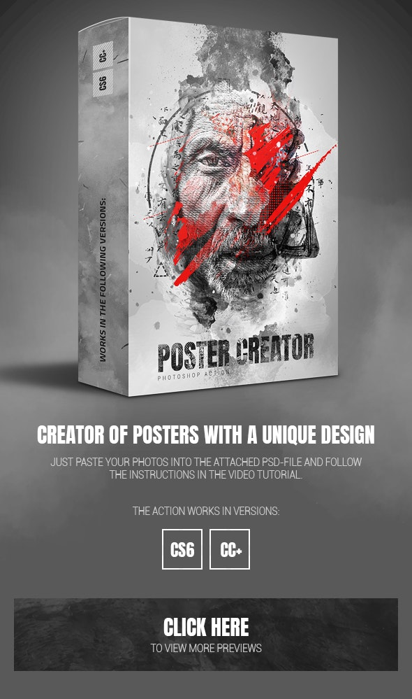 Poster Creator Photoshop Action - Photo Effects Actions