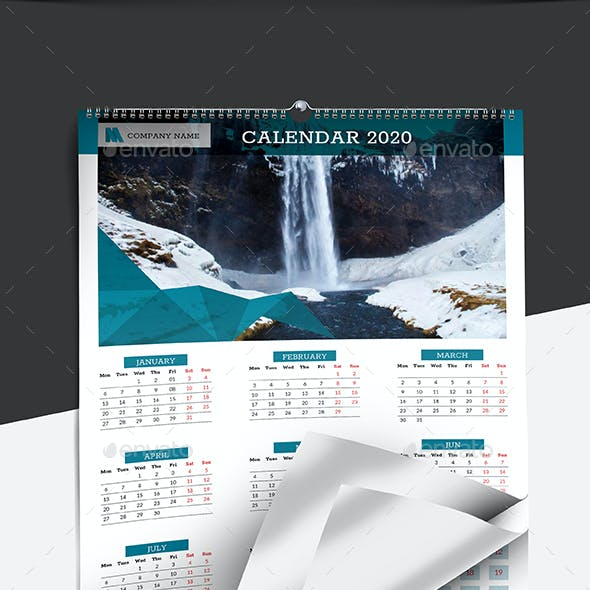 Wall Calendar 2020 | Updated -V10