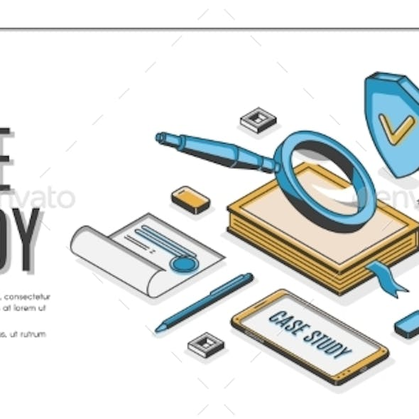 Case Study Isometric Banner Information Research