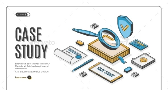Case Study Isometric Banner Information Research - Concepts Business