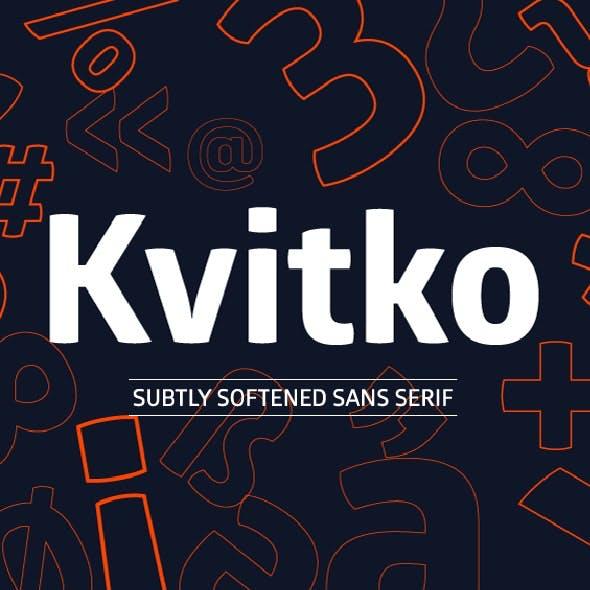 Kvitko Sans Pro Font