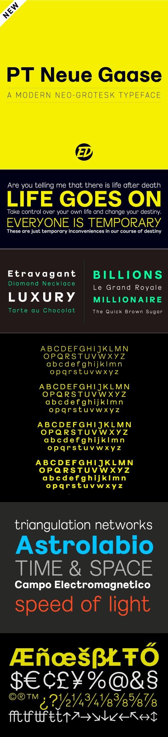 PT Neue Gaase Font - Miscellaneous Sans-Serif