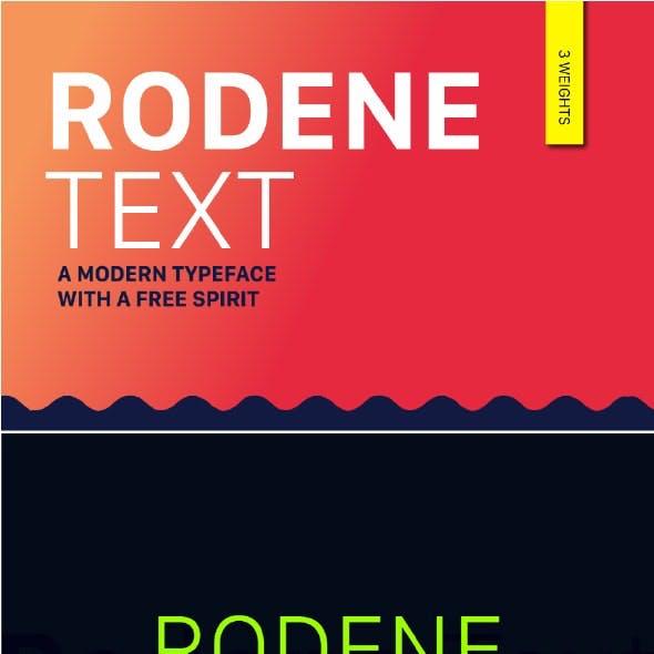Rodene Text Font