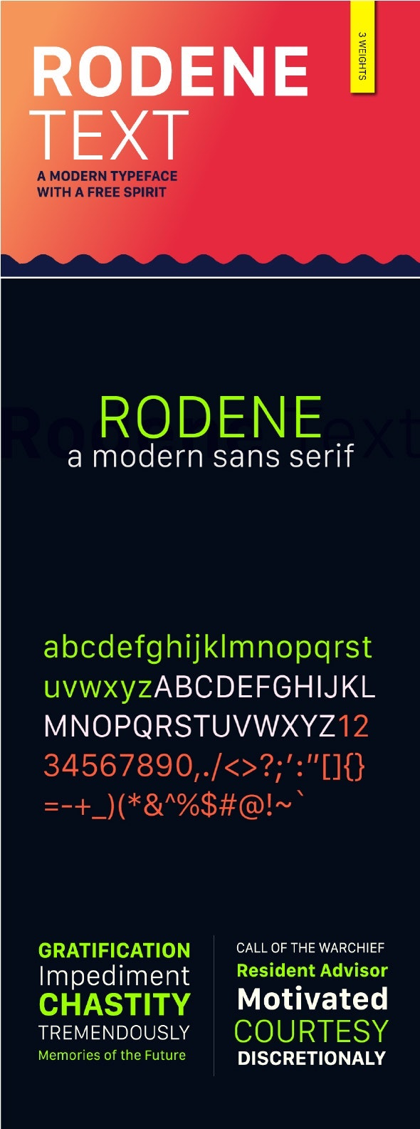 Rodene Text Font - Miscellaneous Sans-Serif