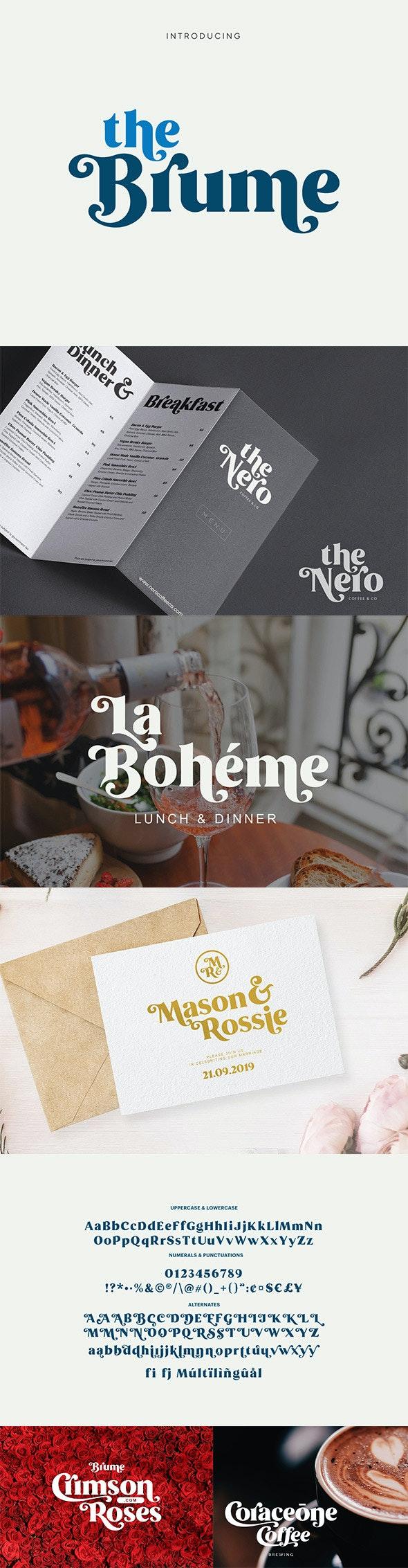 Brume - Beautiful Font - Decorative Fonts