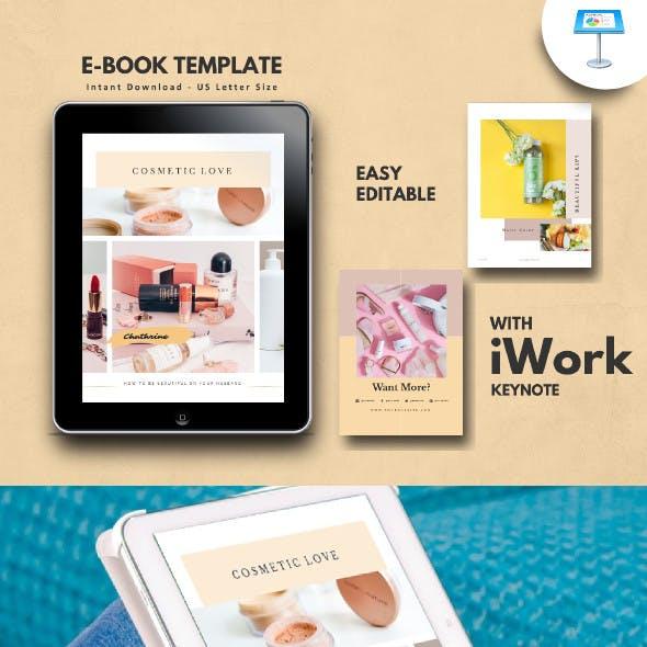Cosmetic Makeup Tips eBook Template Keynote
