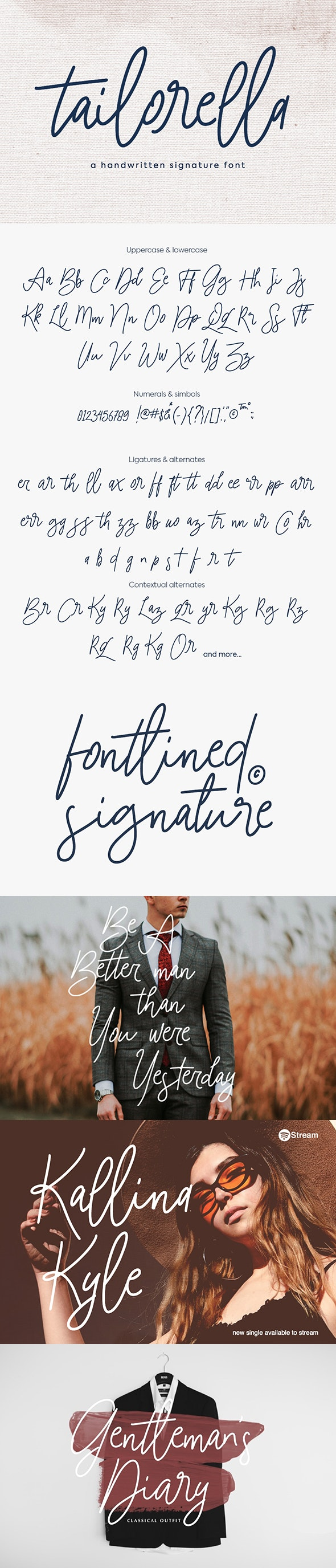 Tailorella Script - Handwriting Fonts