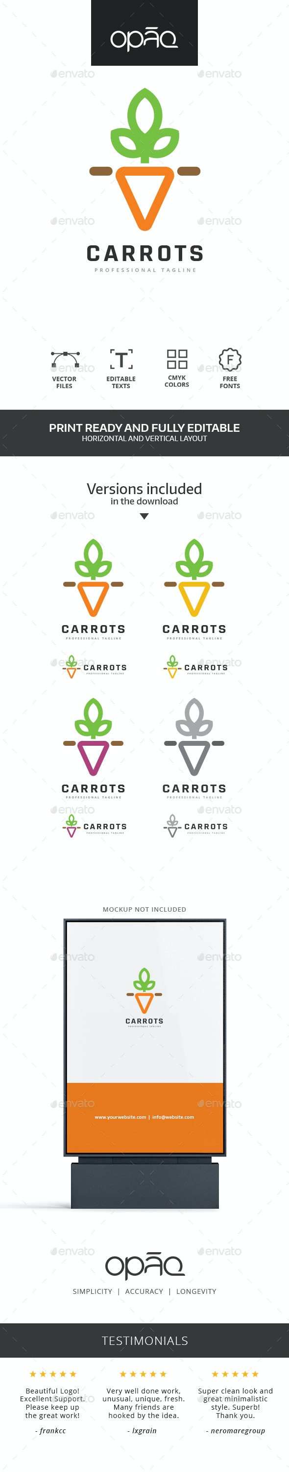 Carrot Logo - Food Logo Templates