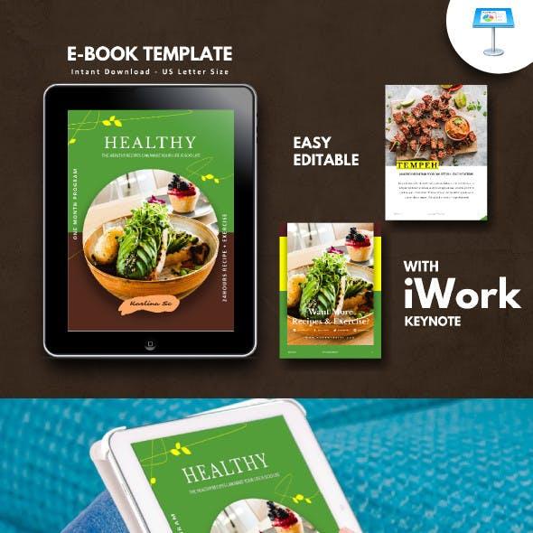 Vegetarian Recipe Book Template Keynote