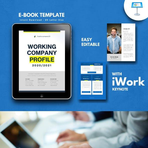 Company Profile 2020 eBook Template Keynote Presentation