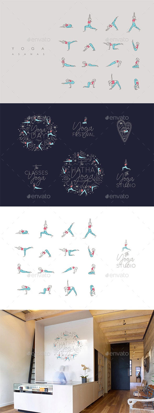 Yoga Asanas - Sports/Activity Conceptual