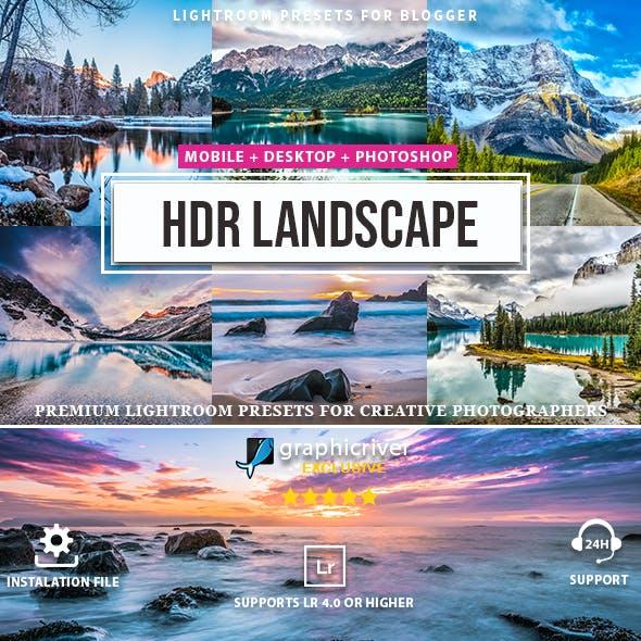 20 PRO HDR Landscape Lightroom presets