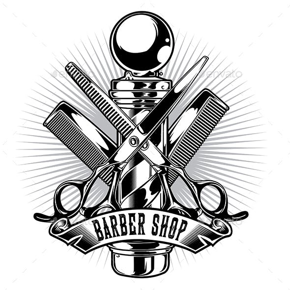 Barber Shop Hair Salon Hair Stylist Vintage King Logo Luxury Pomade Retro Royal Vector 02