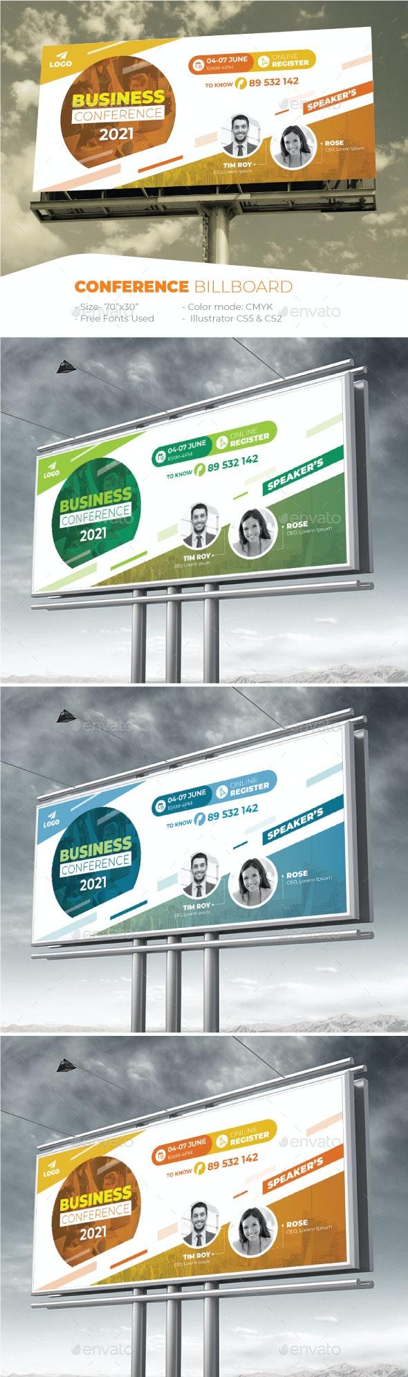 Conference Billboard - Signage Print Templates