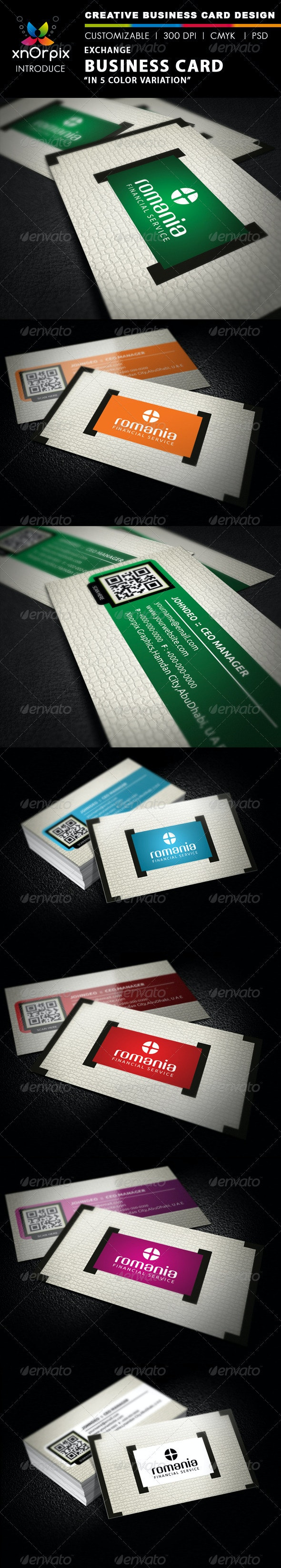 Exchange Business Card - Creative Business Cards