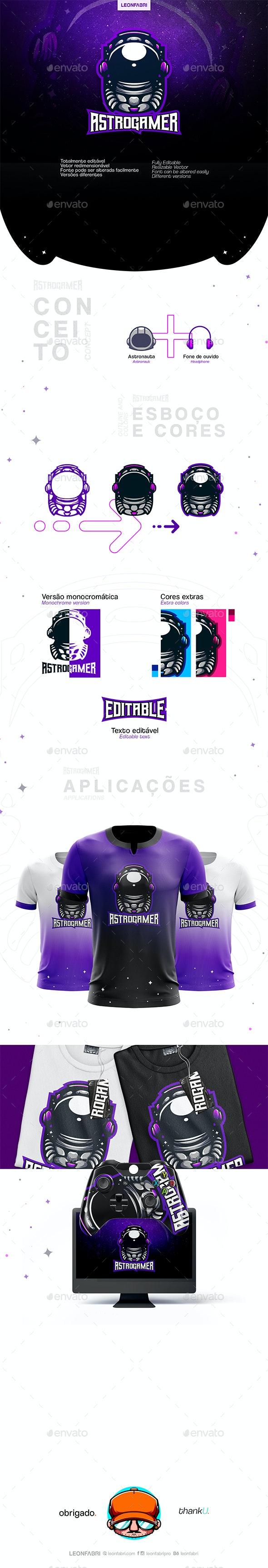 AstroGamer Sports Logo - Humans Logo Templates