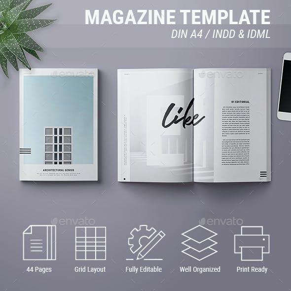 Magazine Template | Genius