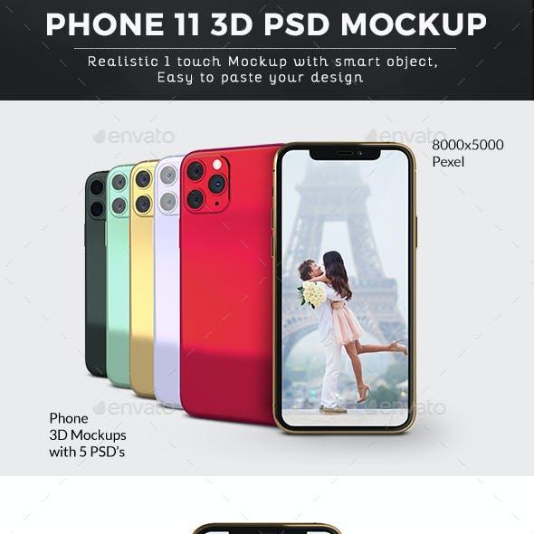 Phone 11 3D Mockup