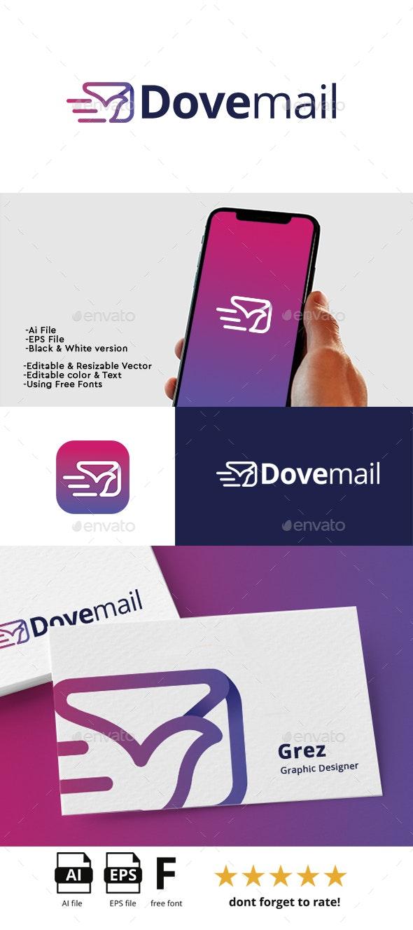 Dove Mail Logo - Symbols Logo Templates