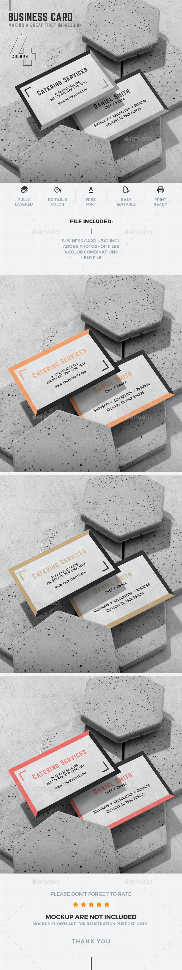 Catering Business Card - Industry Specific Business Cards