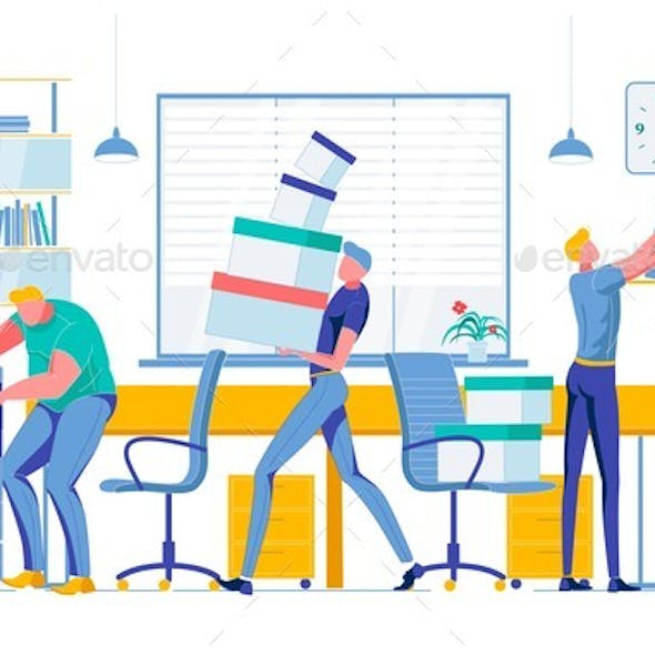 Employees Doing Different Tasks Workflow Process