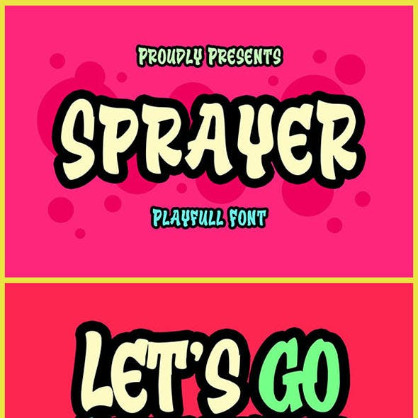 Sprayer Playfull Font