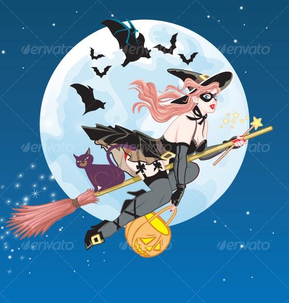 Pretty Halloween Girl - People Characters