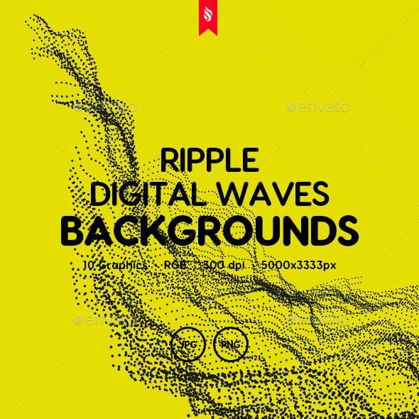 Ripple - Digital Wave Particles Background Set