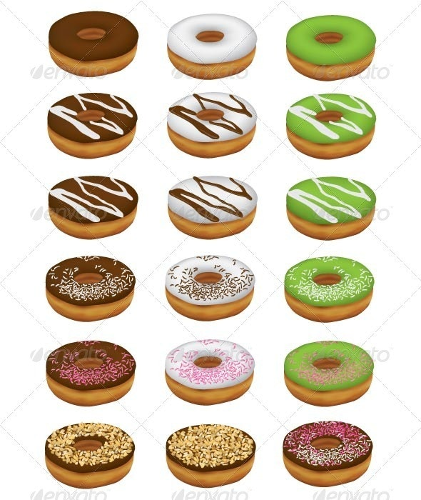 Donuts - Food Objects