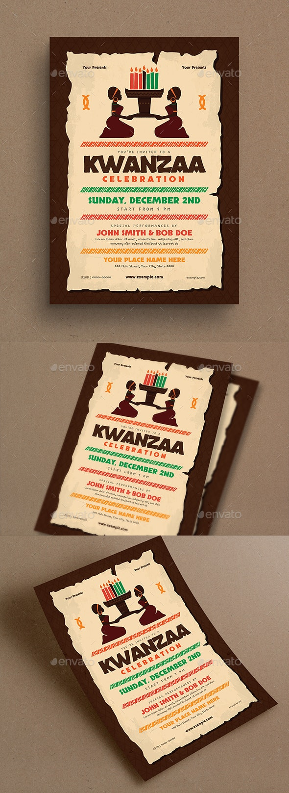 Kwanzaa Event Flyer - Holidays Events