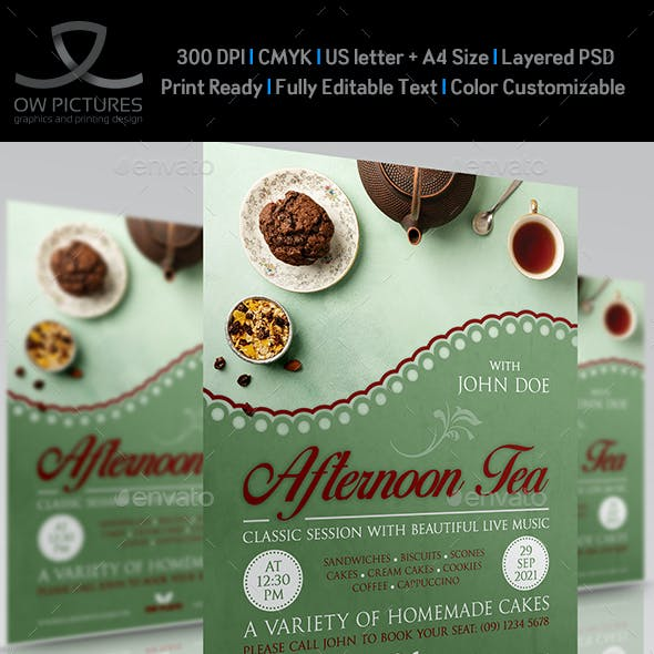 Afternoon Tea - High Tea Party Flyer Template