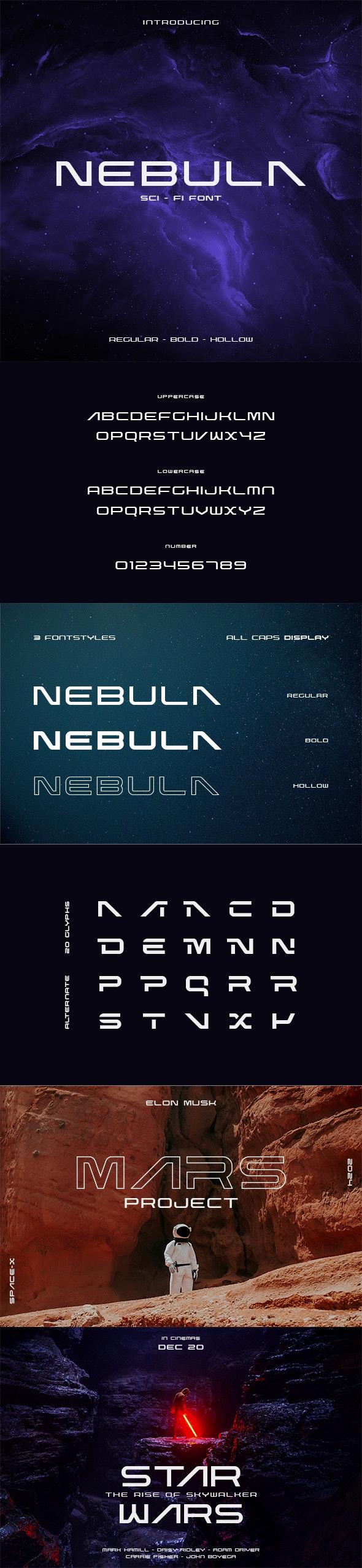 Nebula Sci-Fi Font - Futuristic Decorative