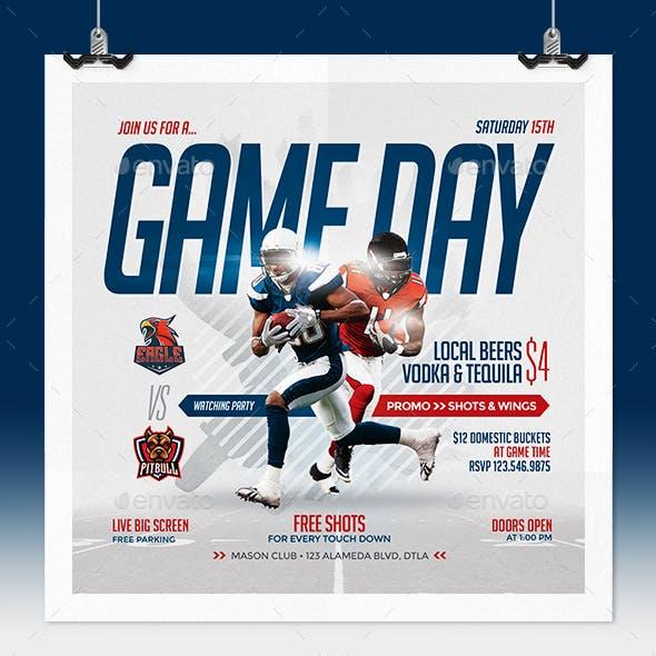 Game Day Flyer - Football Soccer Basketball