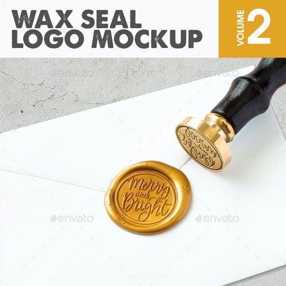 Wax Seal Logo Mockup Vol.2
