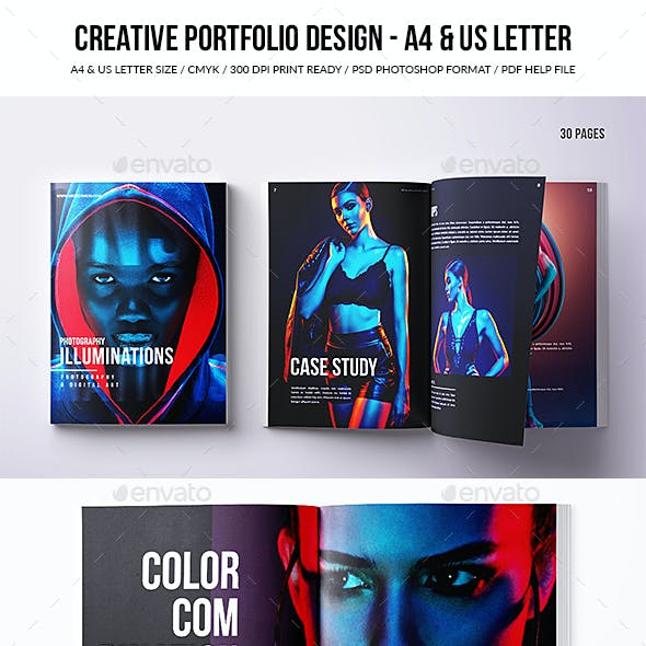 Creative Portfolio Design - A4 & US Letter