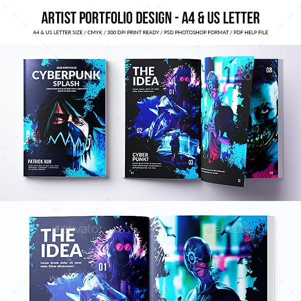 Artist Portfolio Design - A4 & US Letter