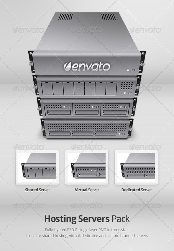 Hosting Servers Pack - Miscellaneous Graphics