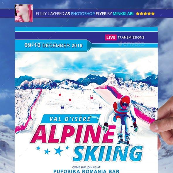 Alpine Skiing Poster/Flyer