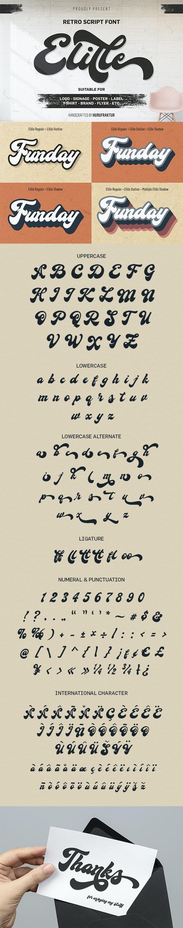 Elille - Cursive Script