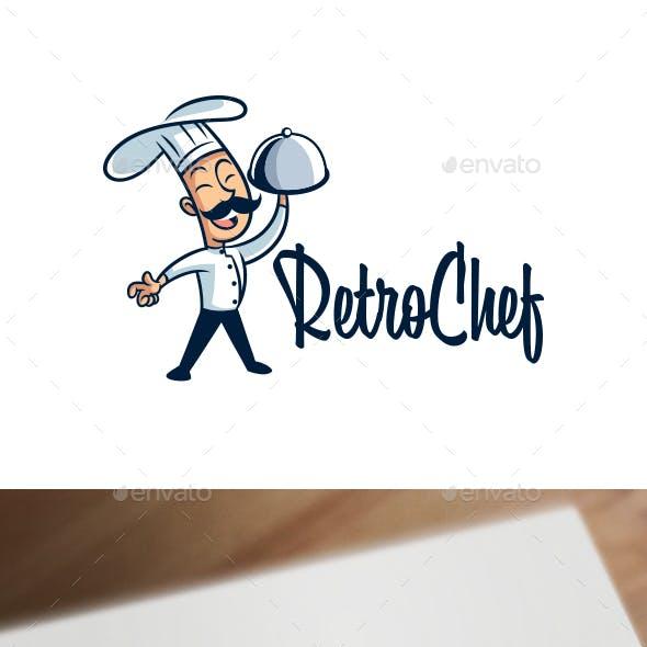 Cartoon Retro Vintage 50's Chef Mascot Logo