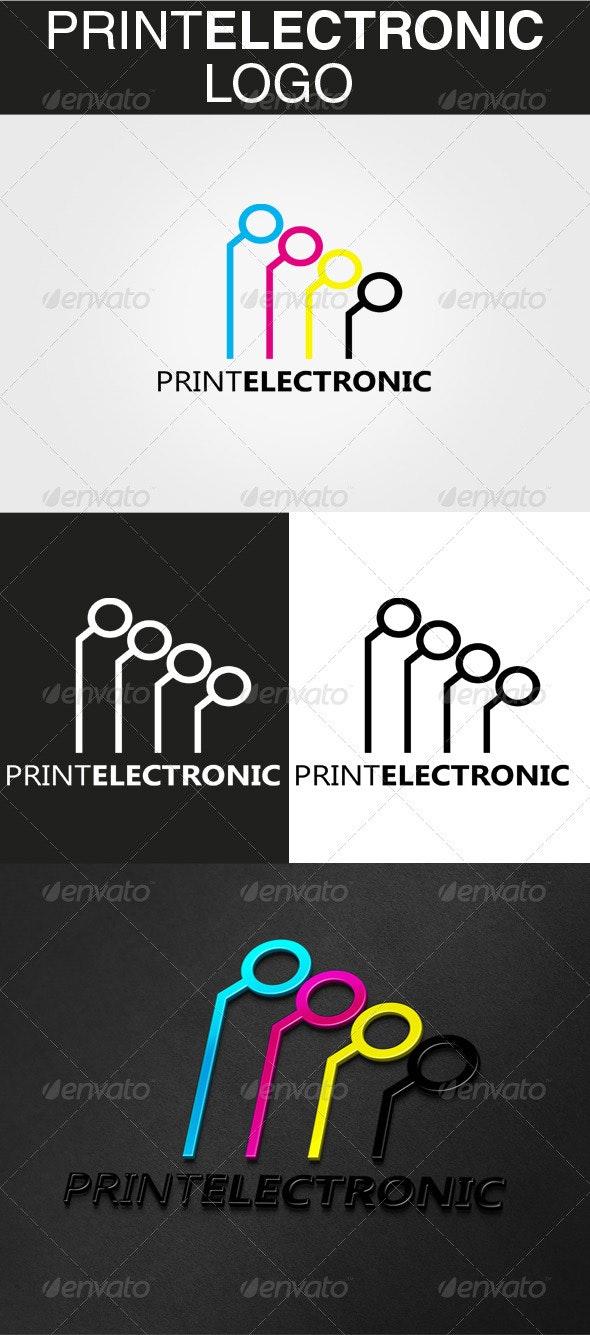 PrintElectronic Logo - Abstract Logo Templates